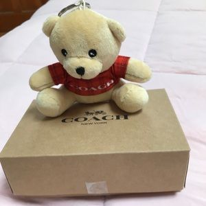 🎃👻NWT Coach Teddy Bear Key Chain With Box👻🎃